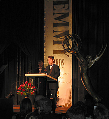 Lane Wyrick Receives Emmy